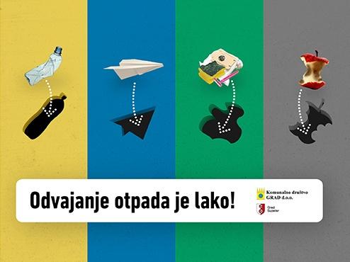 Ilustrativni plakat akcije odvajanja otpada u Supetru